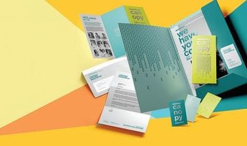 Print products for a brand launch
